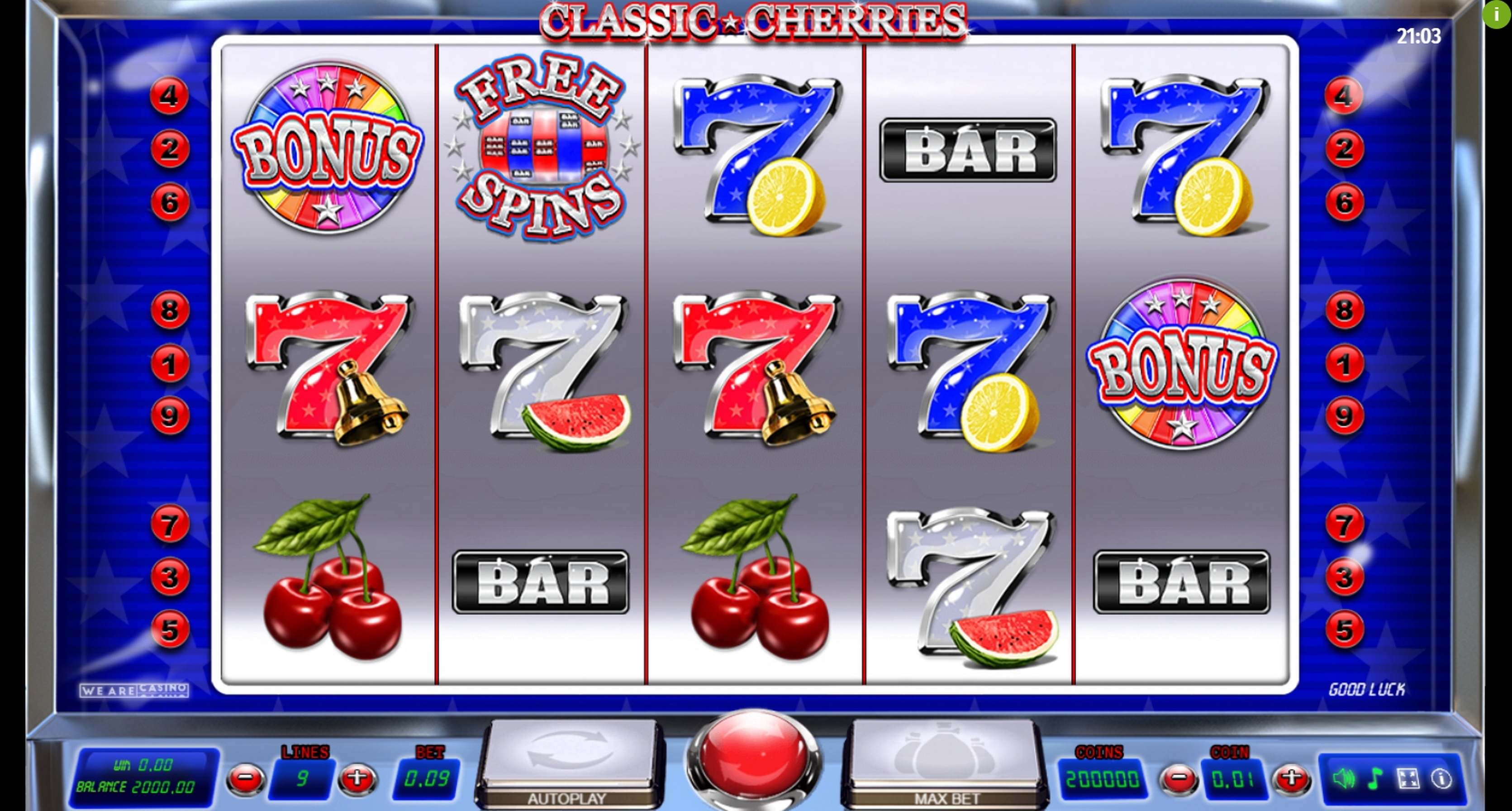 Reels in Classic Cherries Slot Game by We Are Casino