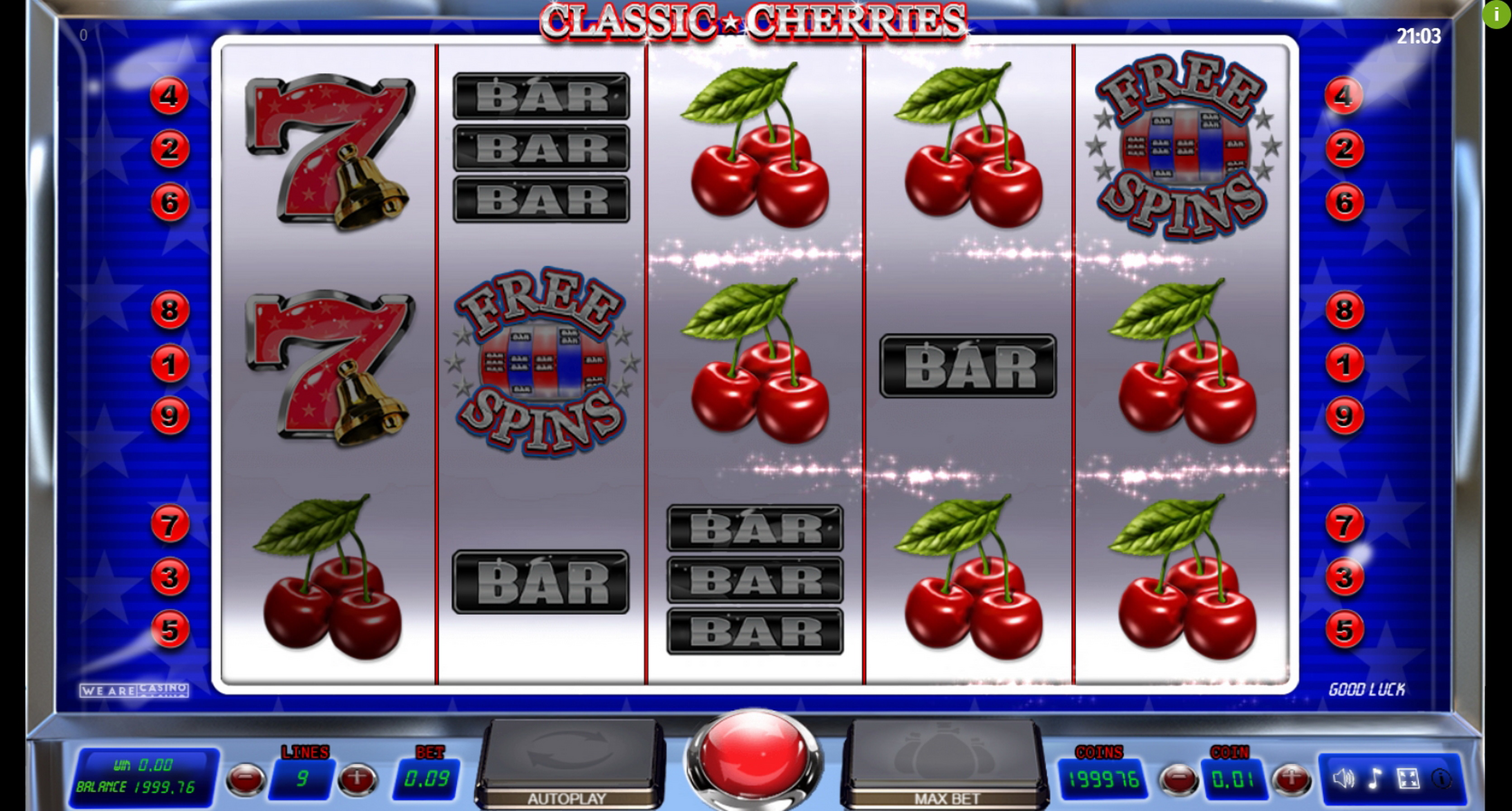 Win Money in Classic Cherries Free Slot Game by We Are Casino